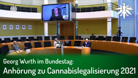 Georg Wurth im Bundestag: Anhörung zu Cannabislegalisierung 2021
